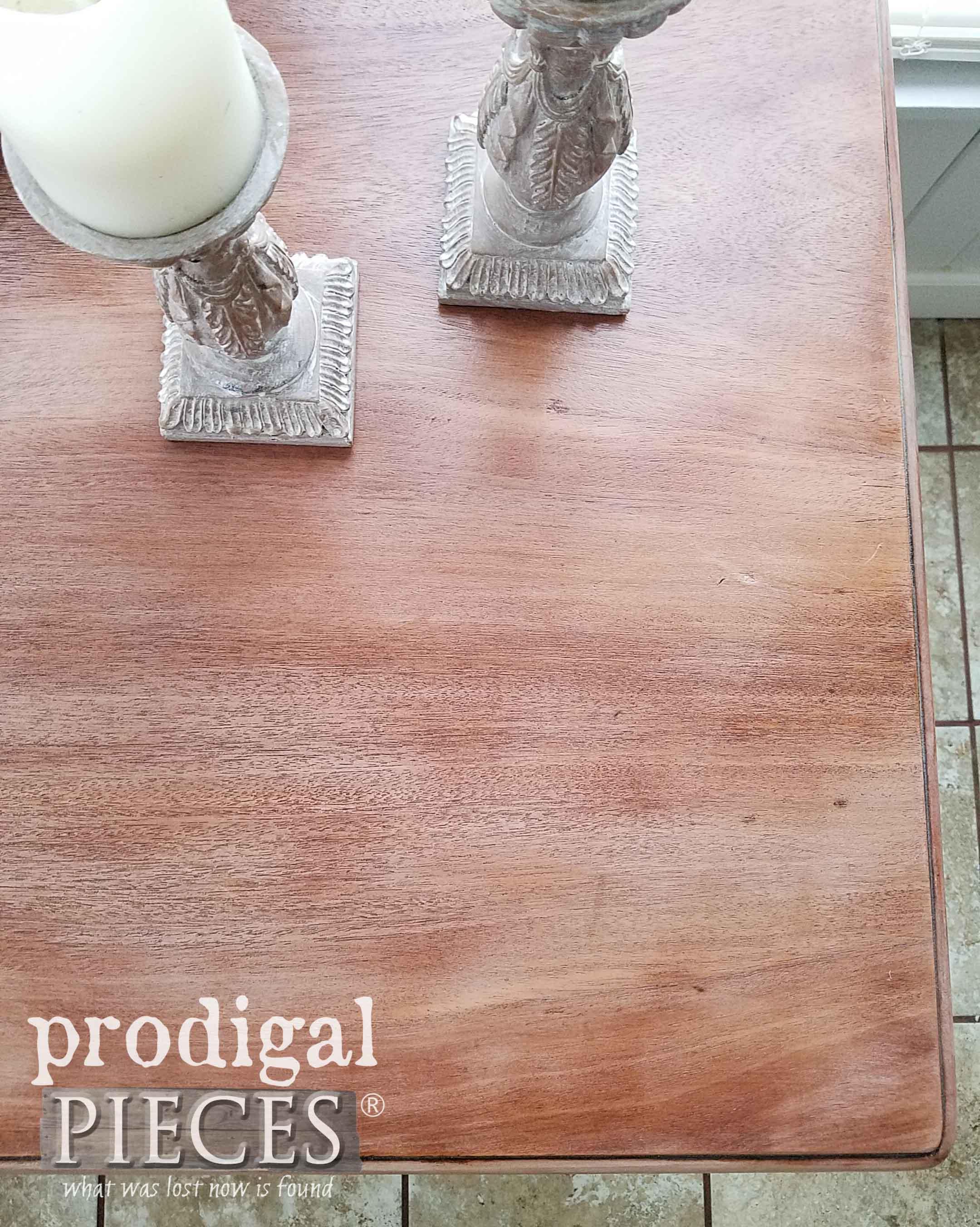 Antique Mahogany Larkin Company Table Top with New Look   prodigalpieces.com