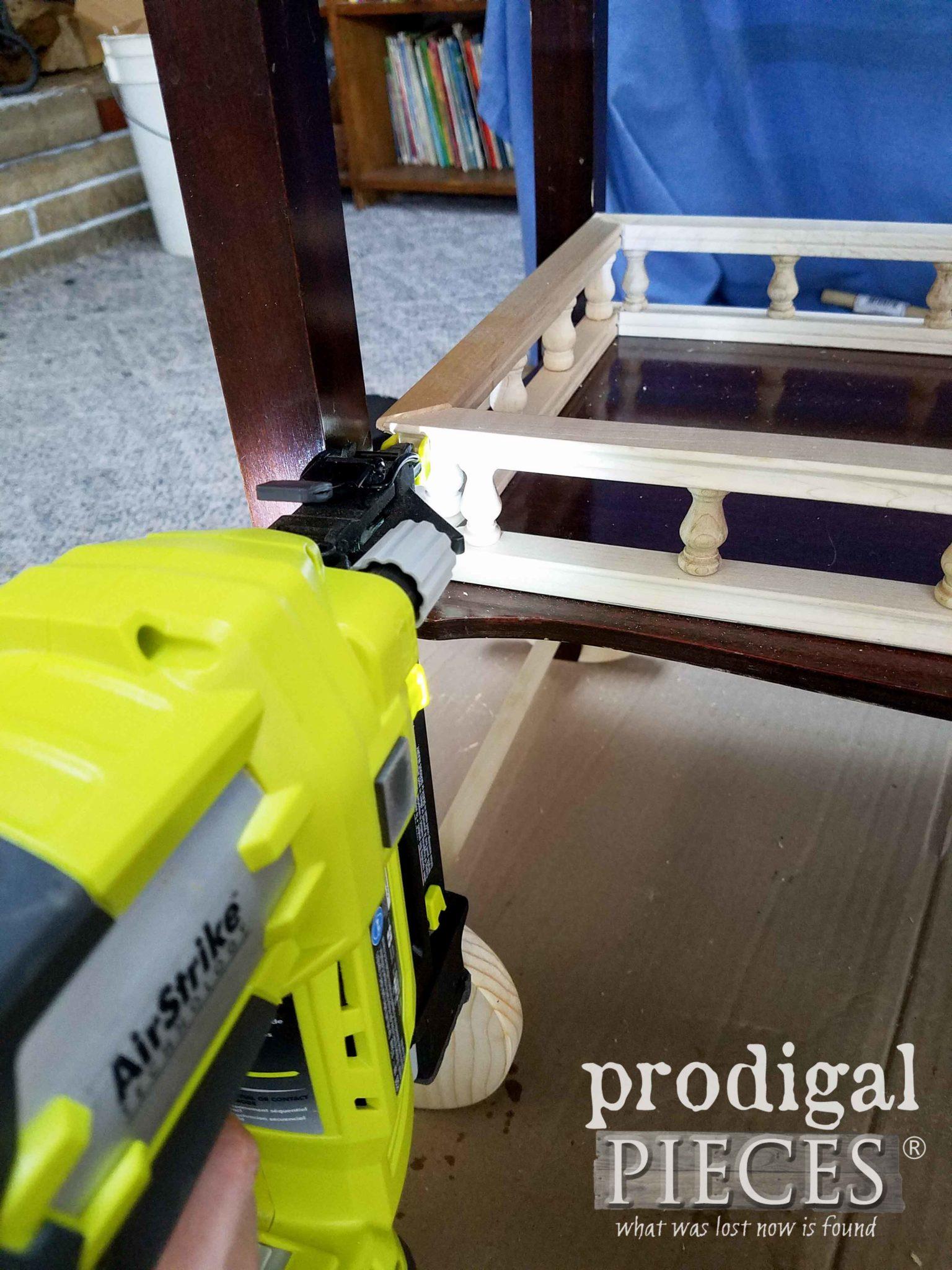 Nailing Tea Cart Rail | prodigalpieces.com