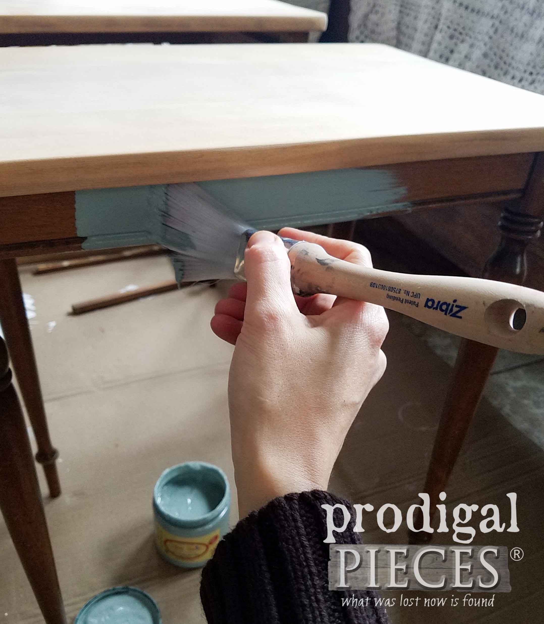 Zibra Fan Paint Brush for Painting Nesting Tables by Prodigal Pieces | prodigalpieces.com