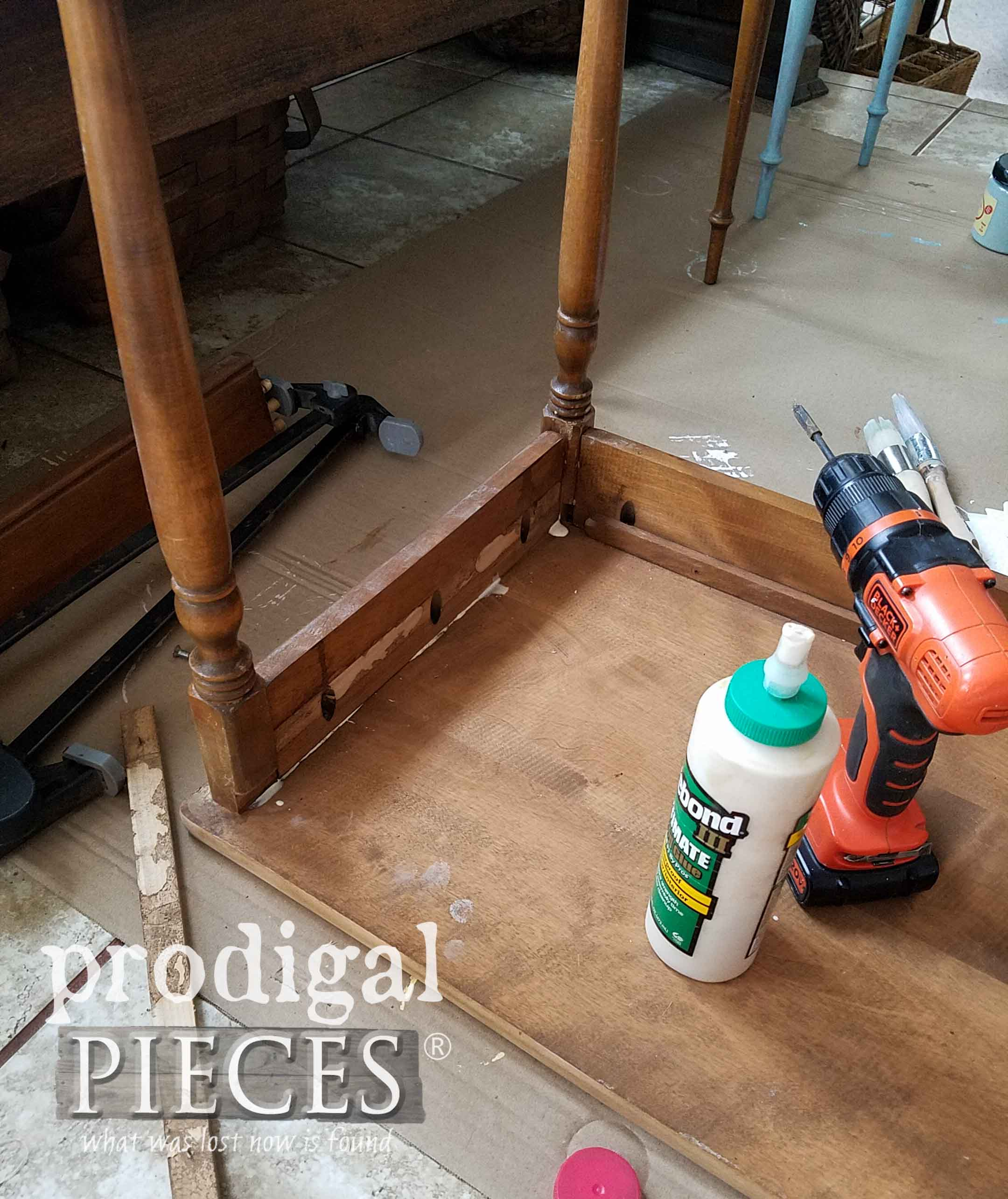 Making Repairs to Nesting Tables | prodigalpieces.com