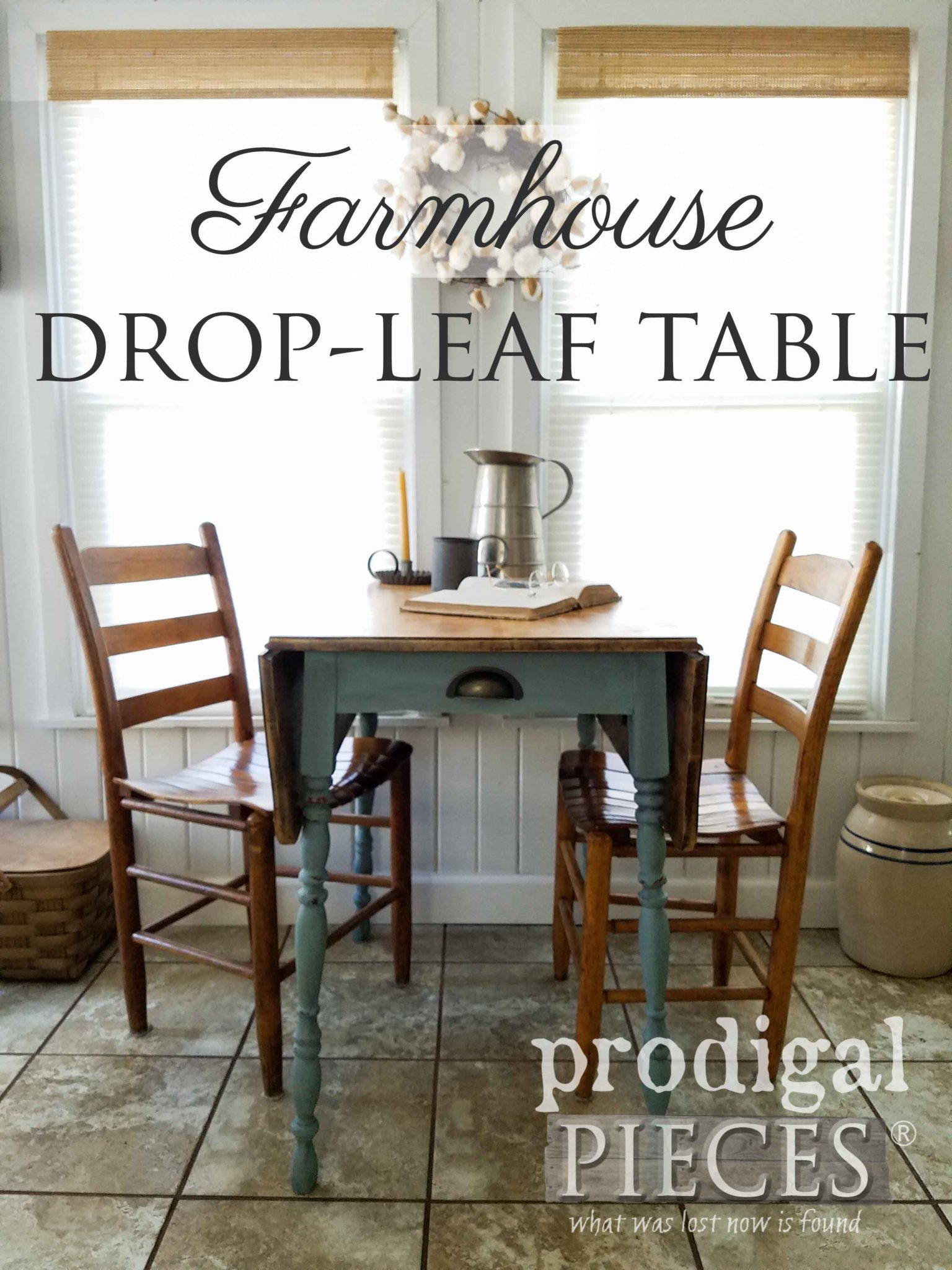 Rustic Farmhouse Table Gets a Much Needed Makeover by Larissa of Prodigal Pieces | prodigalpieces.com