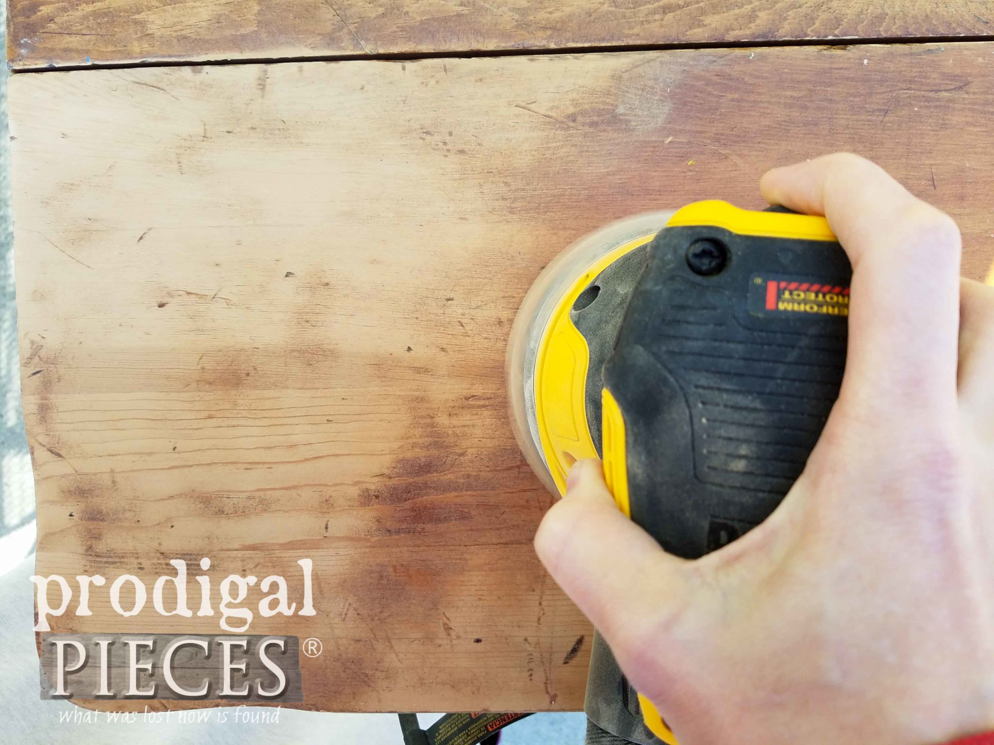 Sanding Drop-Leaf Table Top | prodigalpieces.com