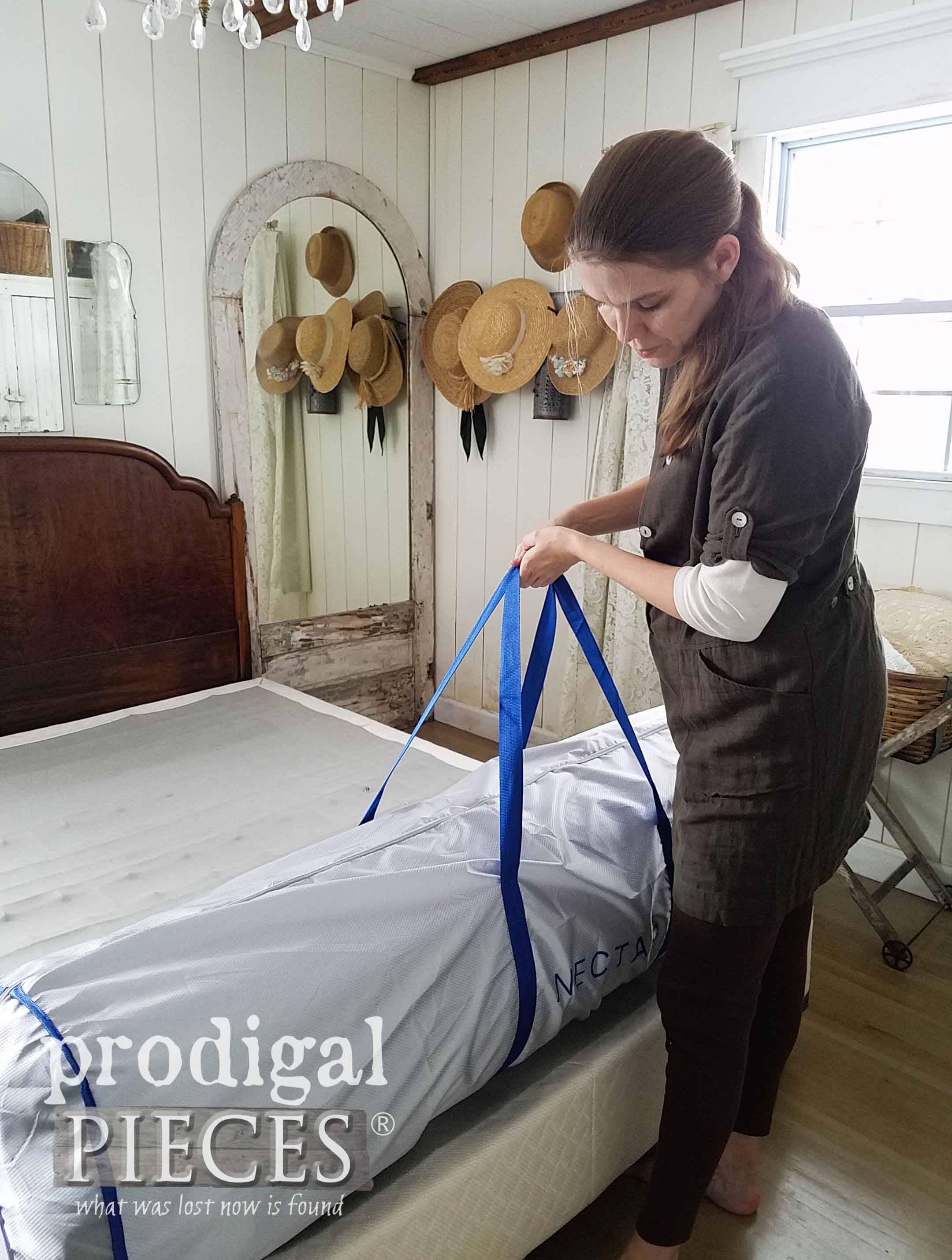 Setting up NECTAR Mattress for Review by Prodigal Pieces | prodigalpieces.com