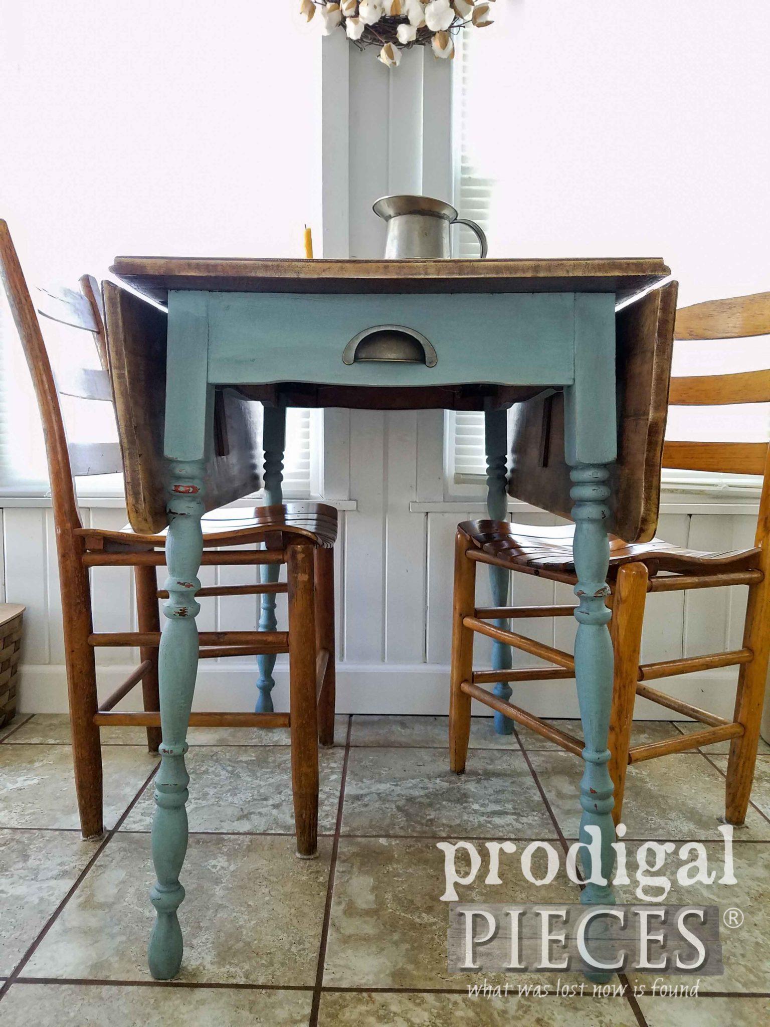 Vintage Duck Egg Farm Table by Larissa of Prodigal Pieces | prodigalpieces.com
