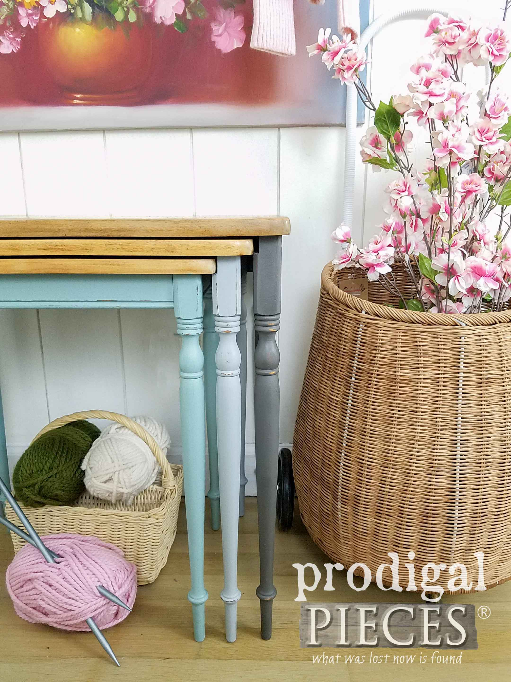 Vintage Style Set of Nesting Tables Refinished by Larissa of Prodigal Pieces | prodigalpieces.com