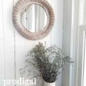 Beautiful Round Wicker Wall Mirror for Farmhouse Cottage Decor | Available at Prodigal Pieces | prodigalpieces.com