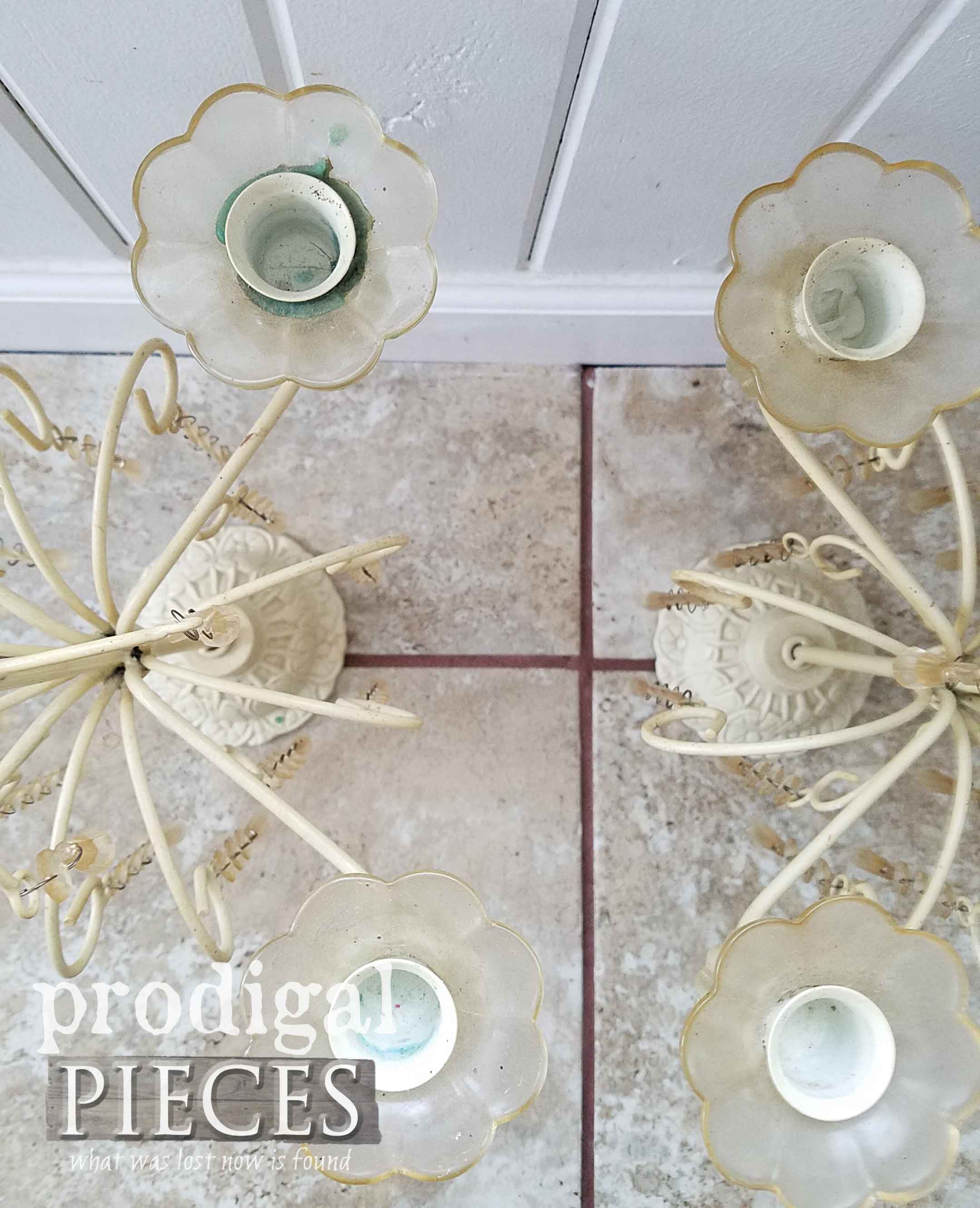 Dirty and Dingy Vintage Candelabras | prodigalpieces.com