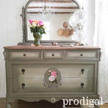 Beautiful Antique Dresser Hand-Painted by Larissa of Prodigal Pieces | prodigalpieces.com