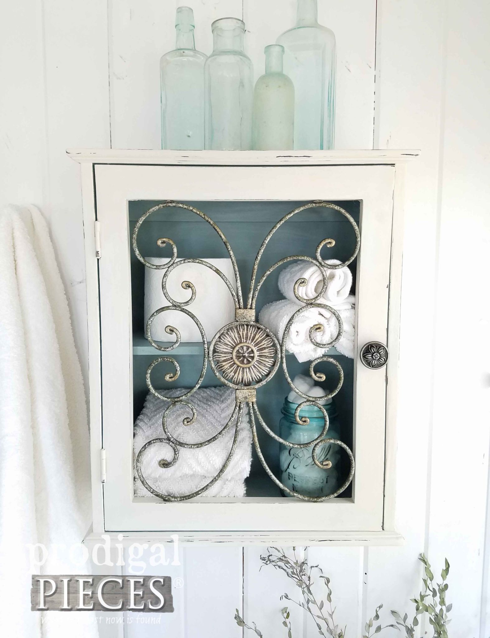 Beautiful Storage Box for Bathroom, Bedroom, and More by Larissa of Prodigal Pieces | prodigalpieces.com
