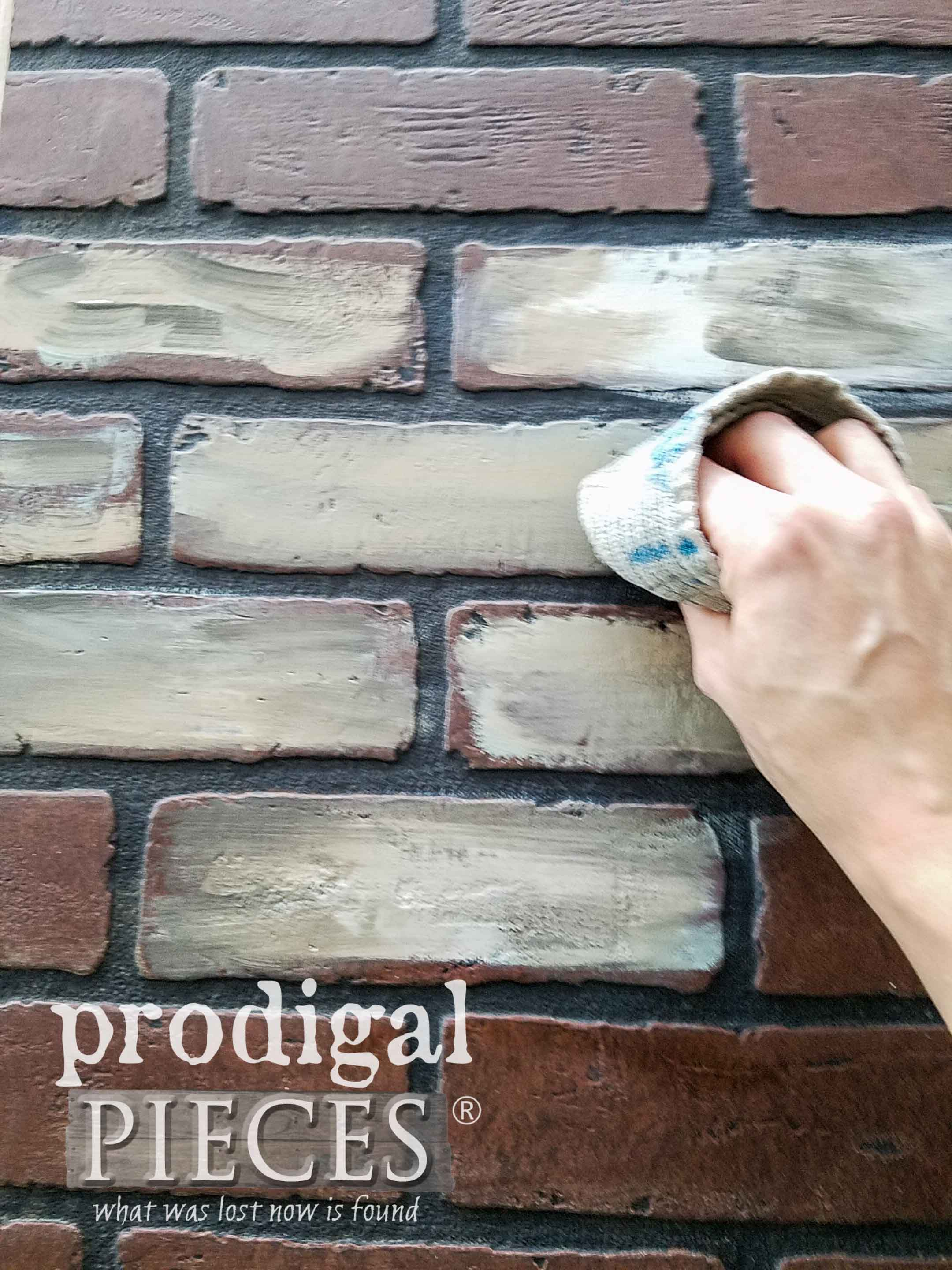 Blending Faux Brick Colors | prodigalpieces.com