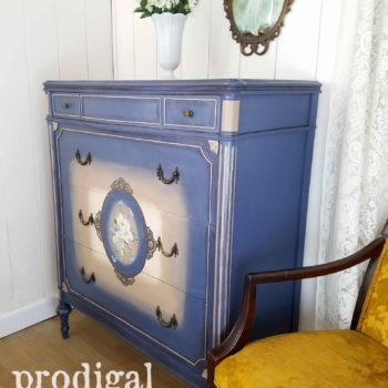 Antique Chest of Drawers in Blue by Larissa of Prodigal Pieces | prodigalpieces.com