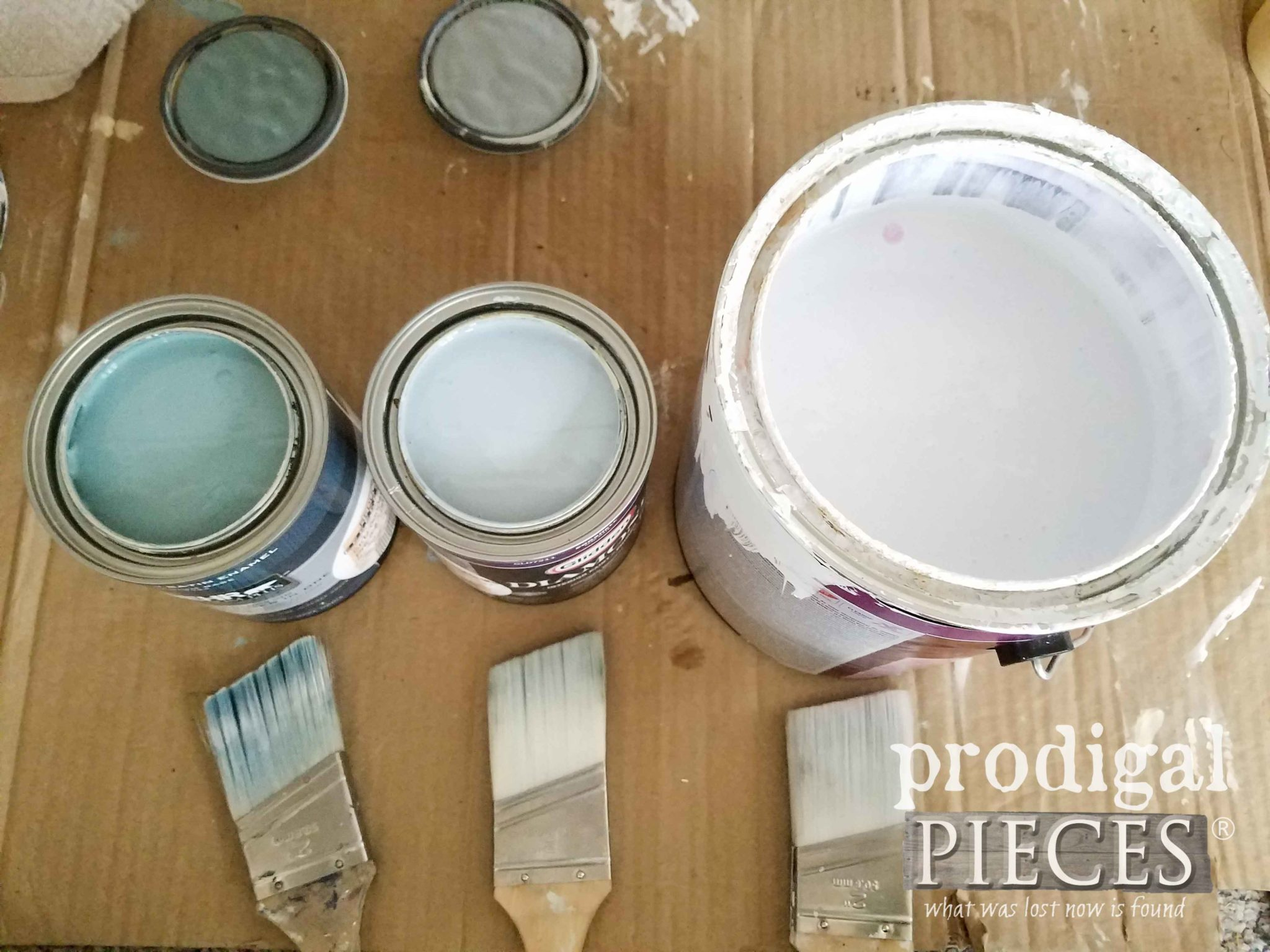 Paint Colors for Boho Mid Century Modern Dresser Makeover by Larissa of Prodigal Pieces | prodigalpieces.com