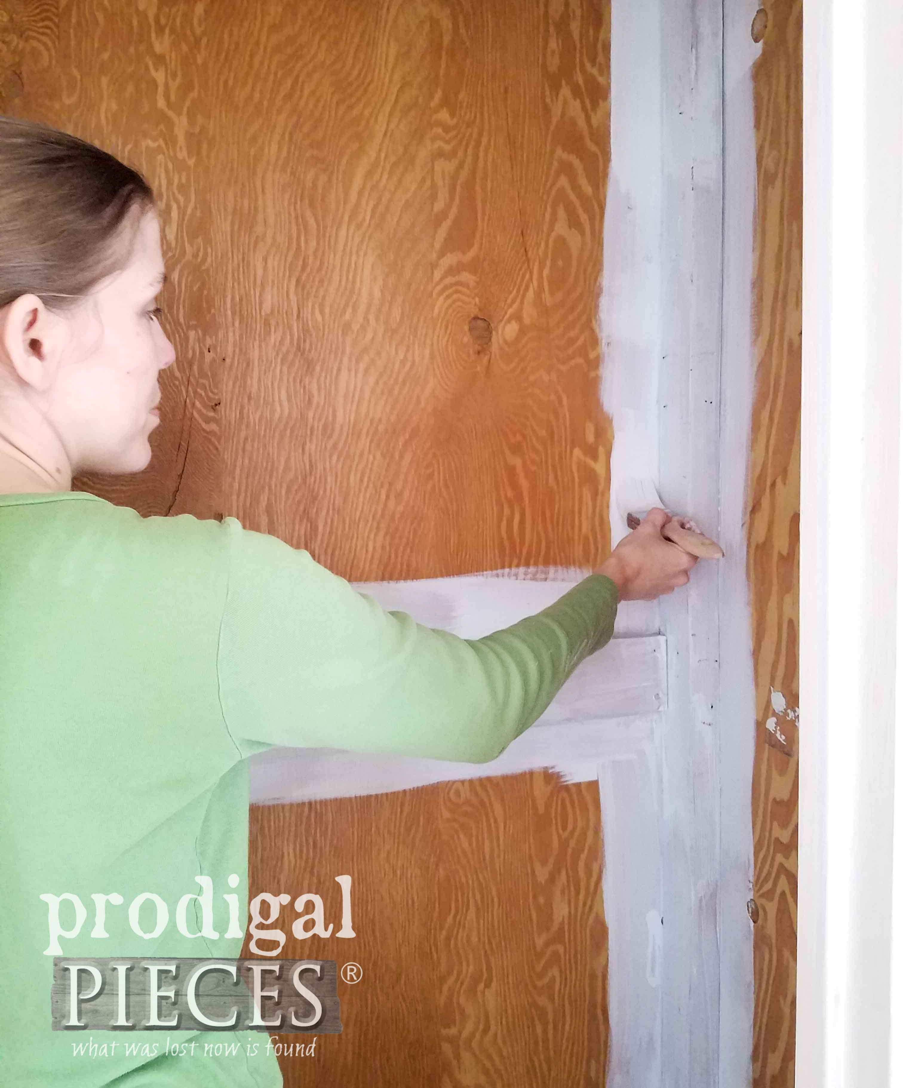 Cutting in Walls of Closet for Closet Spring Cleaning by Larissa of Prodigal Pieces | prodigalpieces.com