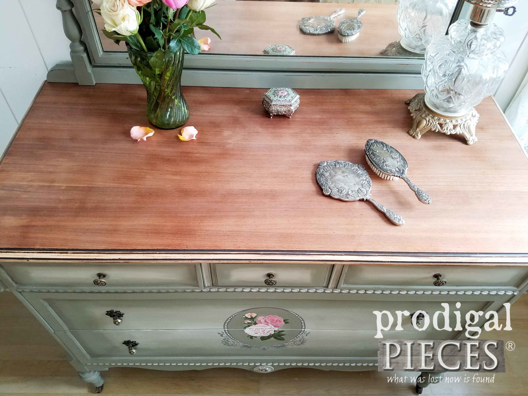 Antique Dresser Top Refinished | prodigalpieces.com
