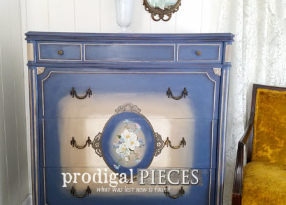 Featured Antique Chest of Drawers with Hand-Painted Details by Prodigal Pieces | prodigalpieces.com