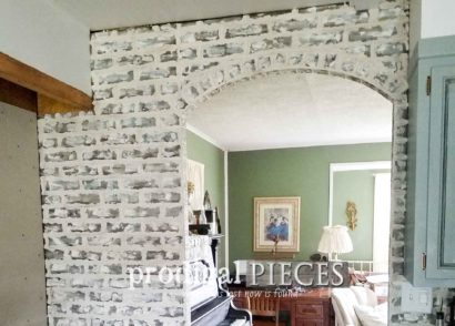 Featured DIY Faux Brick Tutorial with Video Step-By-Step Details by Prodigal Pieces | prodigalpieces.com