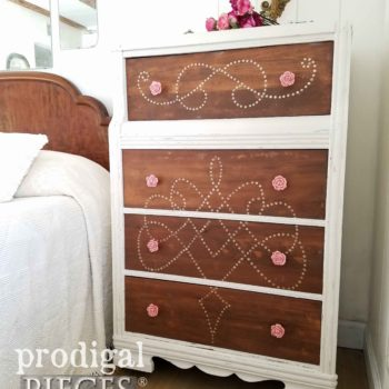 Hand-Painted Art Deco Waterfall Chest of Drawers by Teen Girl | See more at Prodigal Pieces | prodigalpieces.com
