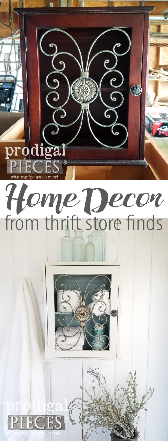 Do you want a new look in your home? Get your DIY on! It's affordable and easy with the right tools and information. Come see how Larissa of transformed this thrifted find. Tips & tricks to make your house your home. | Prodigal Pieces | prodigalpieces.com
