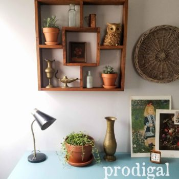 Mid Century Modern Bedroom with Boho Chic Vignette by Larissa of Prodigal Pieces | prodigalpieces.com