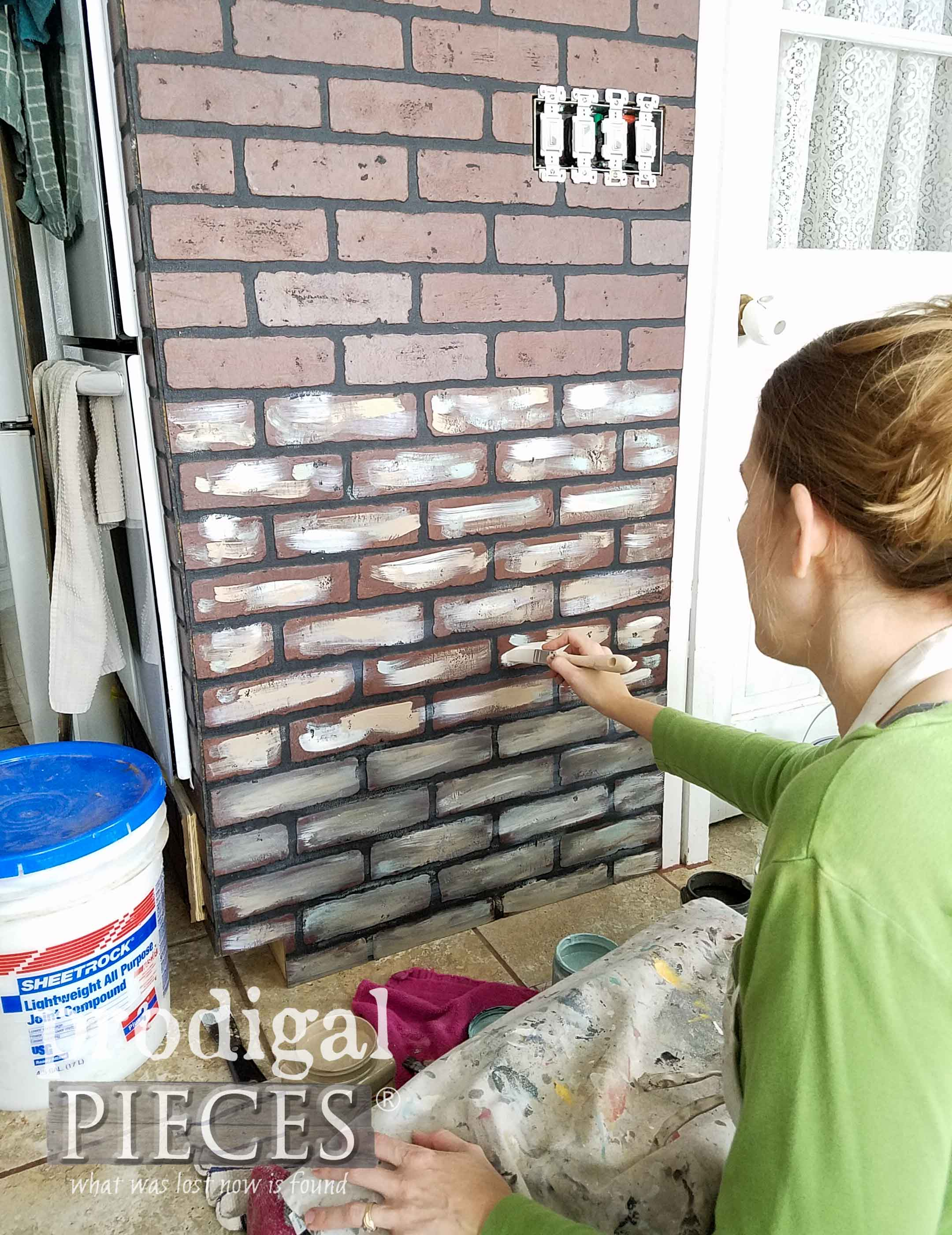 Painting Oven Brick Surround | prodigalpieces.com