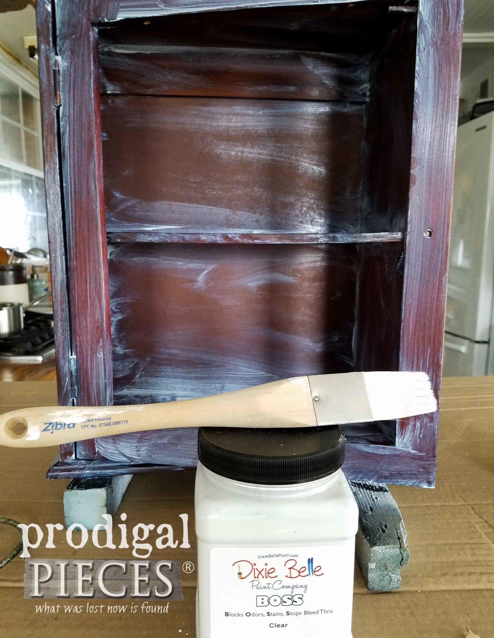 Dixie Belle Paint Company Boss Primer to Block Stains and Seal in Odors by Larissa of Prodigal Pieces | prodigalpieces.com