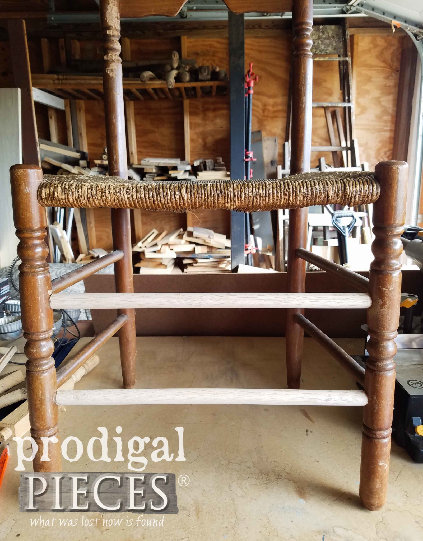 Repaired Chair Legs with New Dowel by Larissa of Prodigal Pieces | prodigalpieces.com