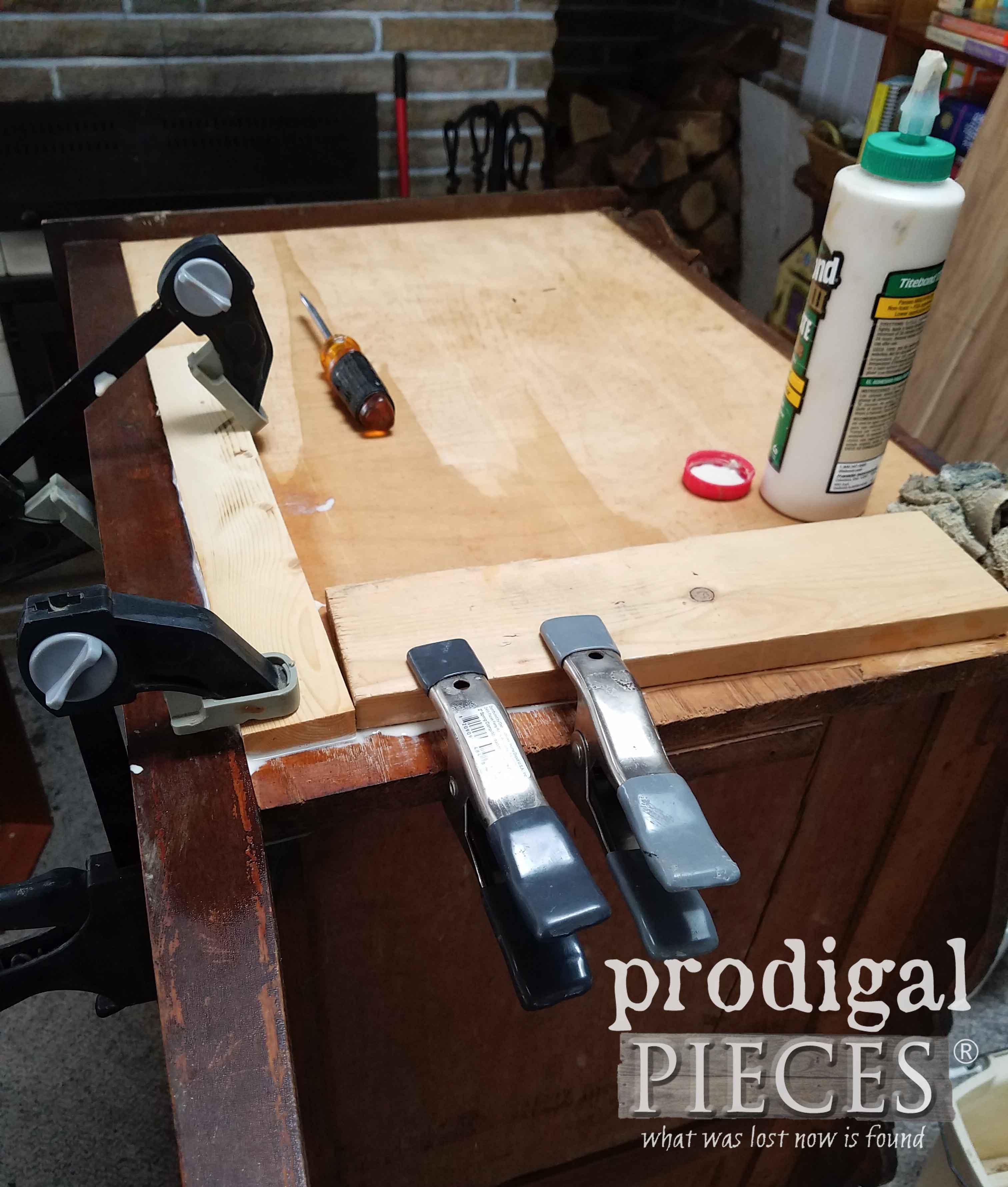 Repairing Dresser Veneer | prodigalpieces.com