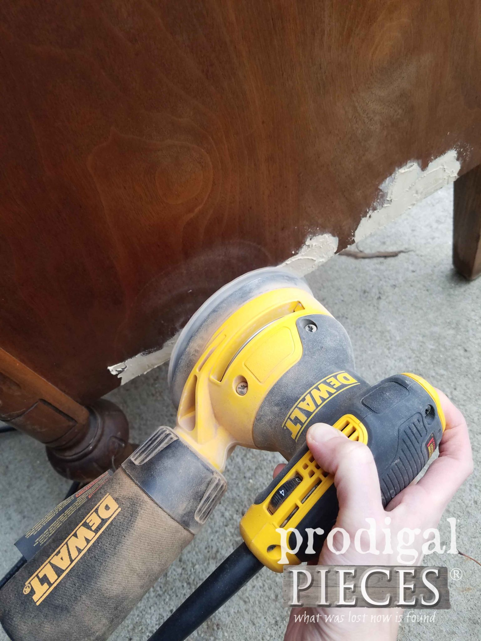 Sanding Damaged Veneer | prodigalpieces.com