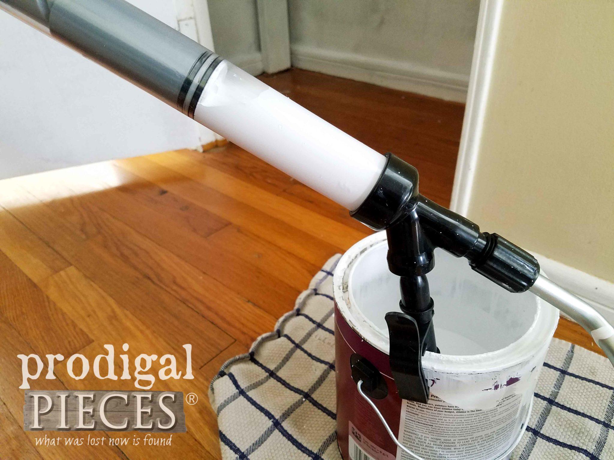 Siphoning Paint into HomeRight EZ-Twist Paint Stick   prodigalpieces.com