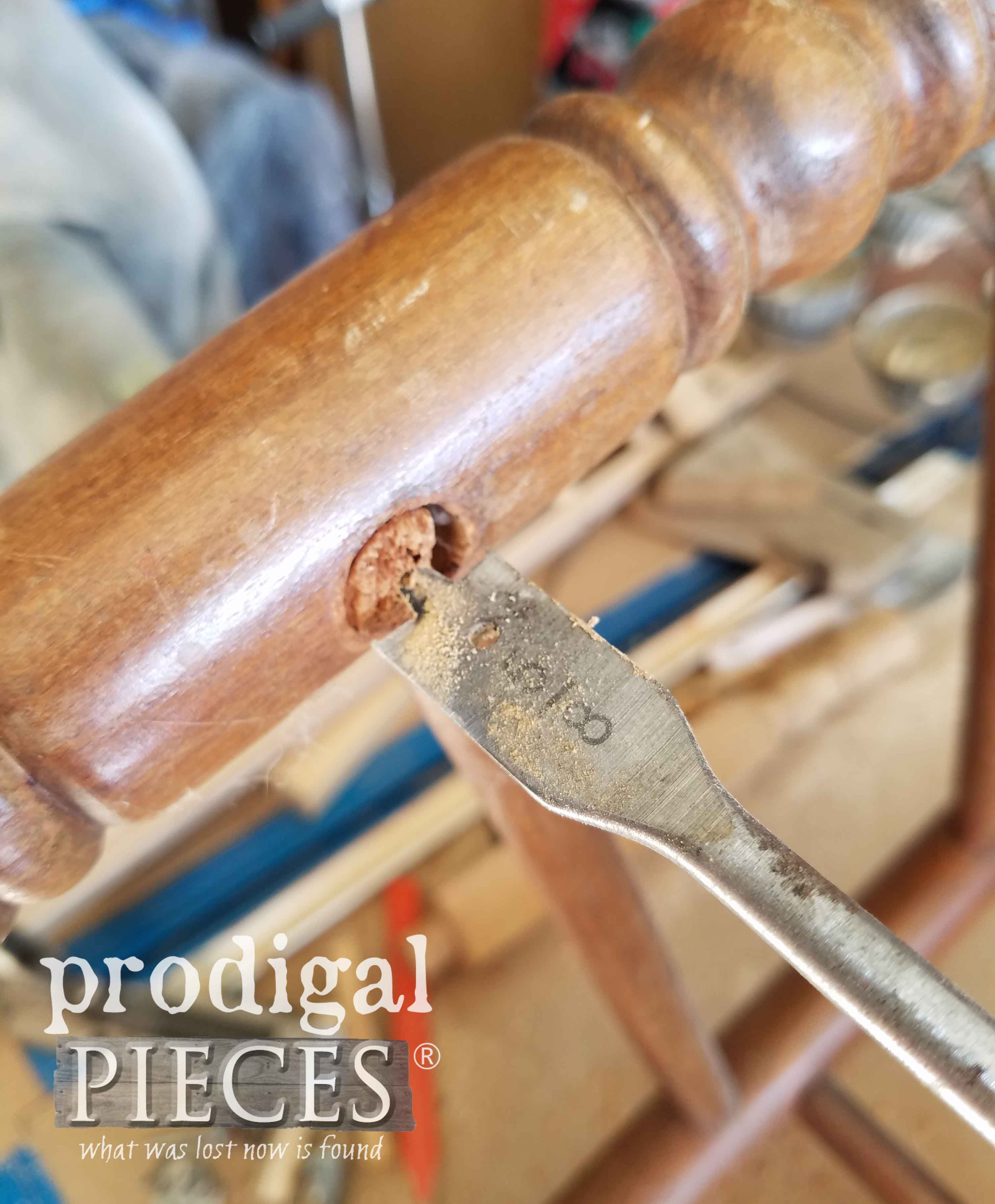 Spade Bit to Repair Chair | prodigalpieces.com