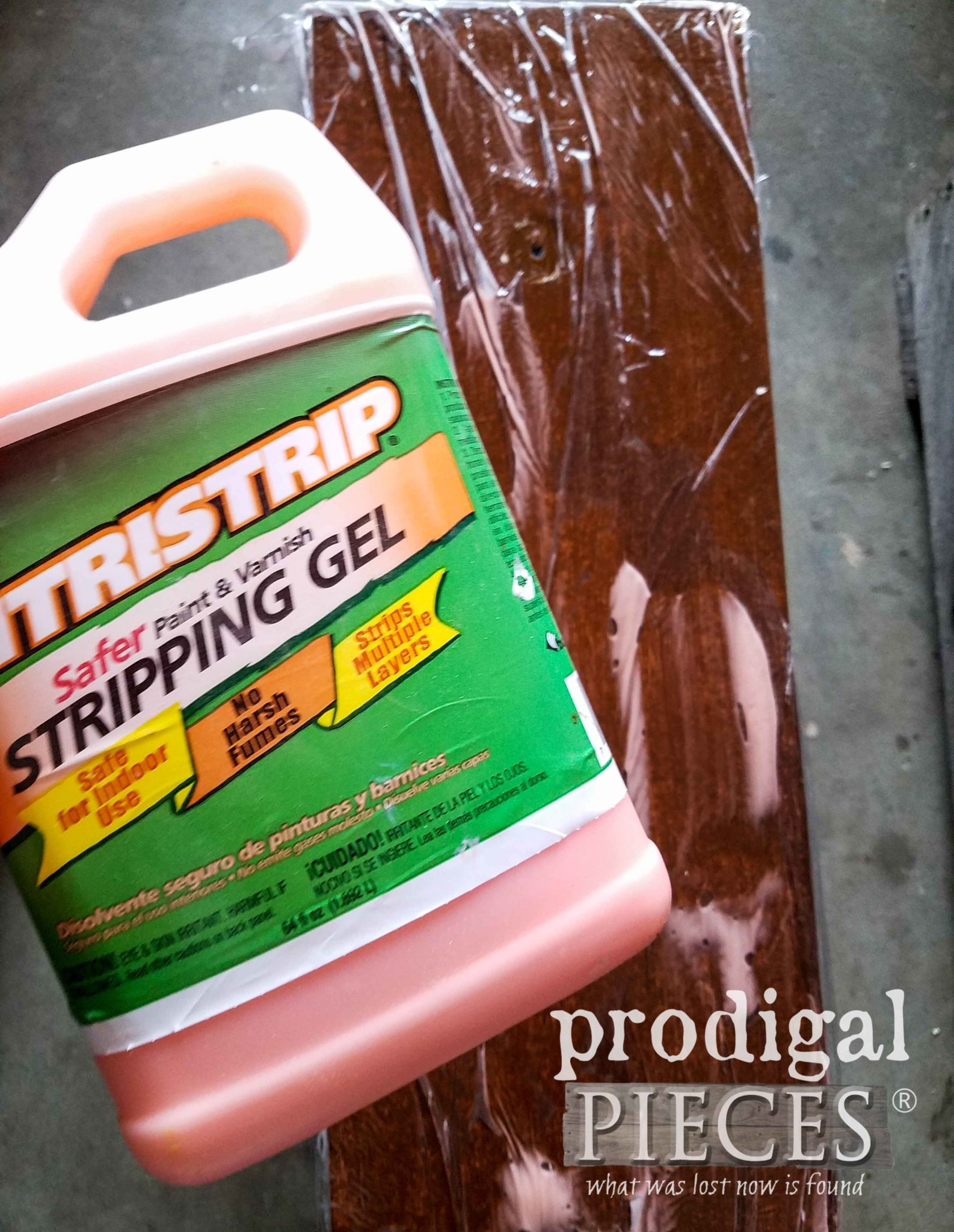 Using CitriStrip Stripping Gel to Remove Old Paint | prodigalpieces.com