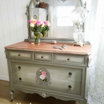 An Antique Mirrored Dresser Given New Life by Larissa of Prodigal Pieces | prodigalpieces.com