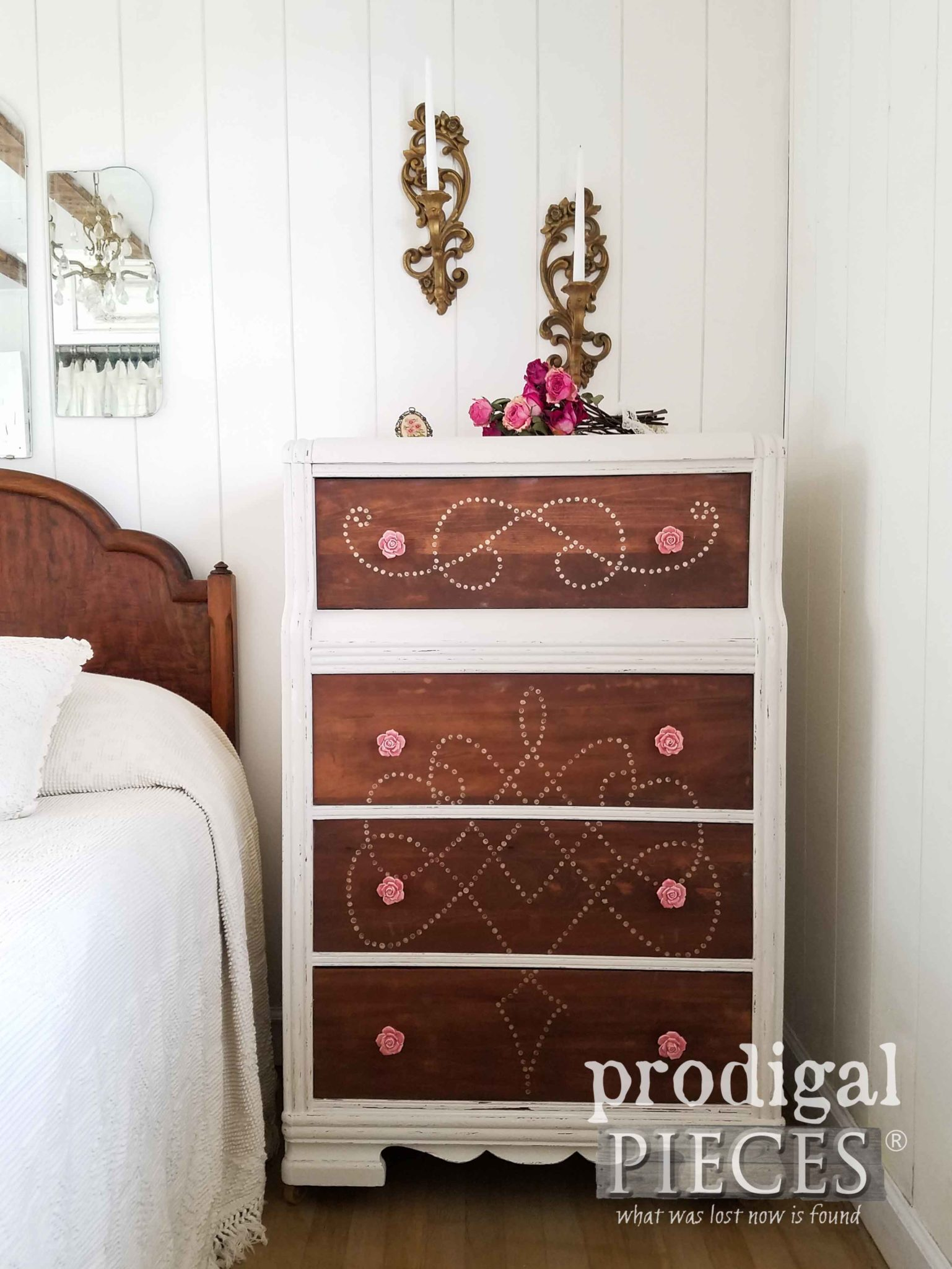 Vintage Art Deco Chest Revived and Renewed by a Teen Girl. See more at Prodigal Pieces | prodigalpieces.com