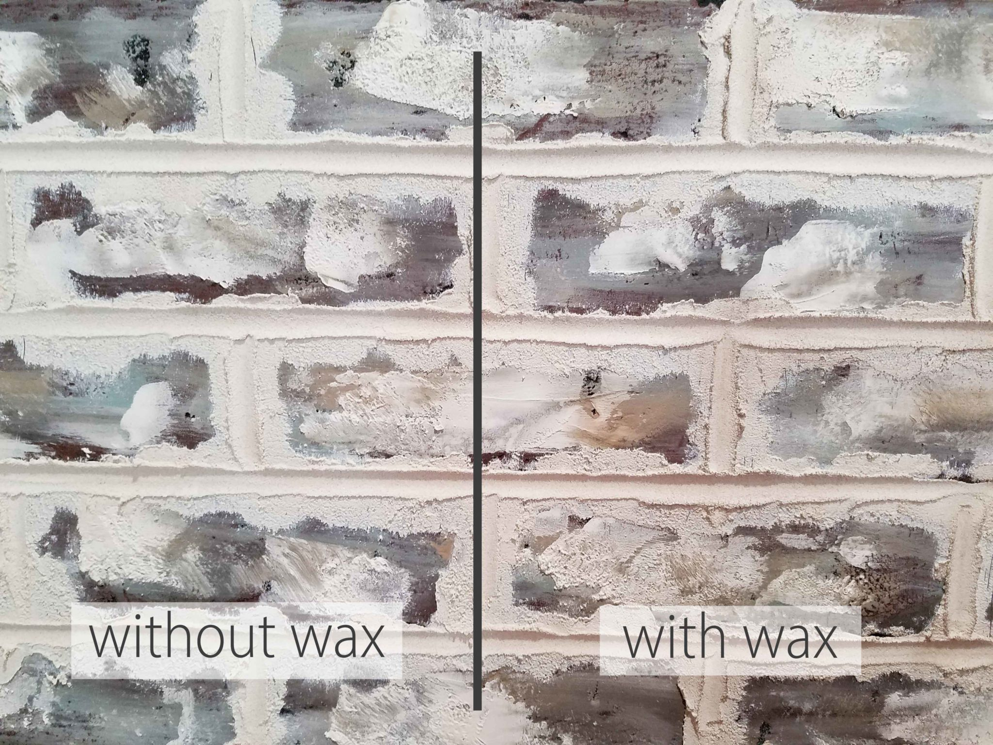 Wax Comparisons for Faux Brick Wall by Prodigal Pieces | prodigalpieces.com