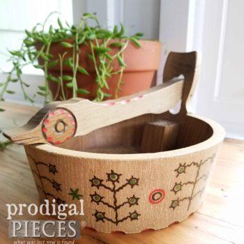 Handmade Vintage Anri Nutcracker Bowl | prodigalpieces.com
