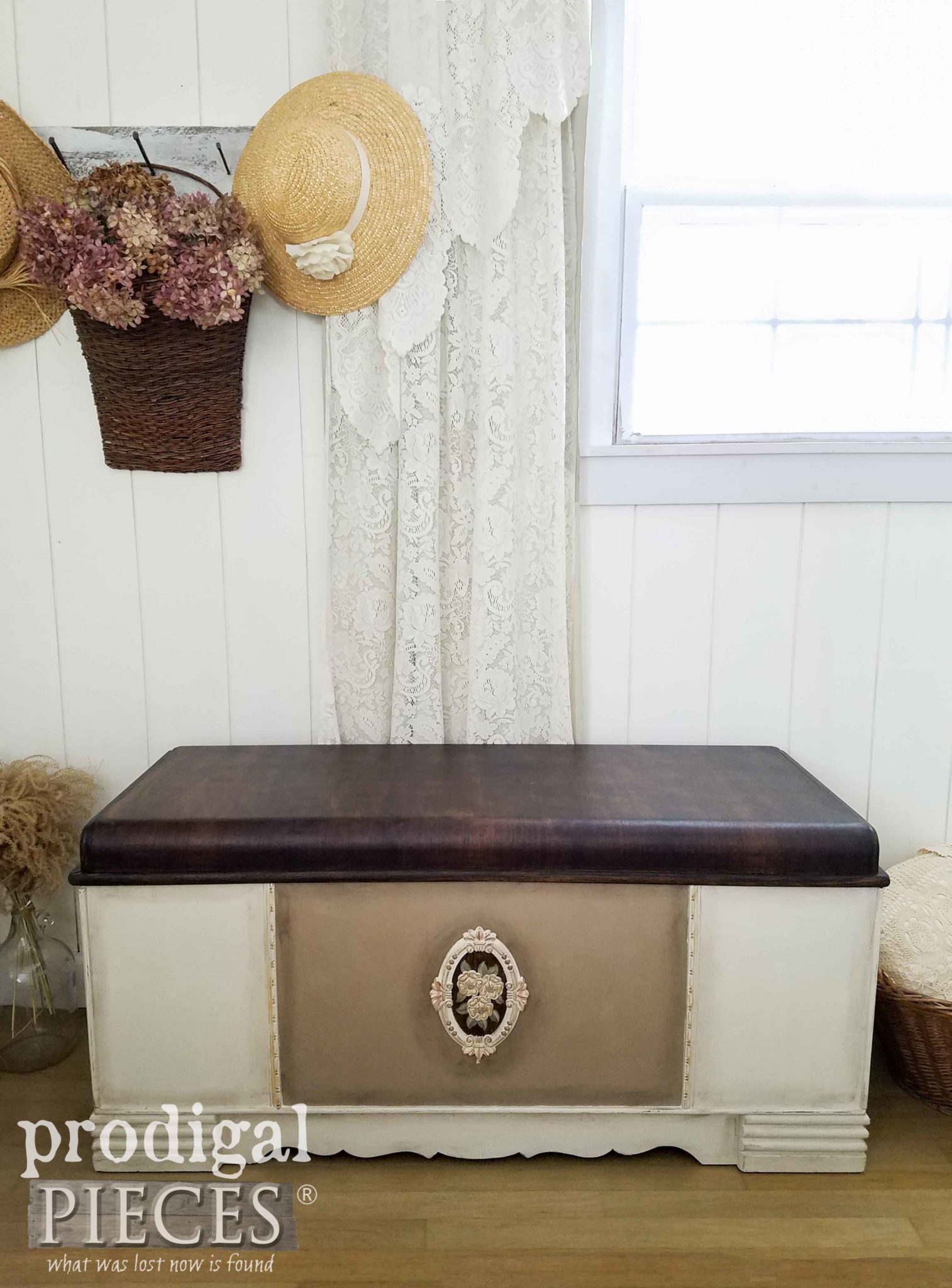 Art Deco Hope Chest Restored with Dixie Belle Paint Products by Larissa of Prodigal Pieces | prodigalpieces.com
