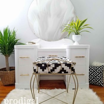 Boho Chic Art Deco Vanity with Chair by Larissa of Prodigal Pieces | prodigalpieces.com