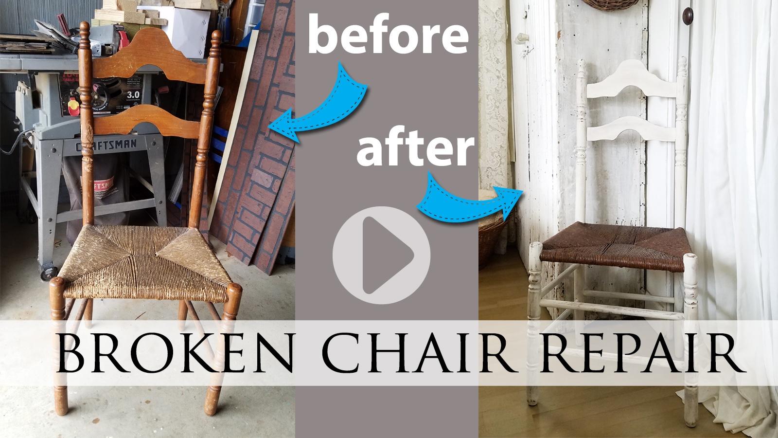 Broken Chair Repair Video Tutorial by Larissa of Prodigal Pieces | prodigalpieces.com #prodigalpieces