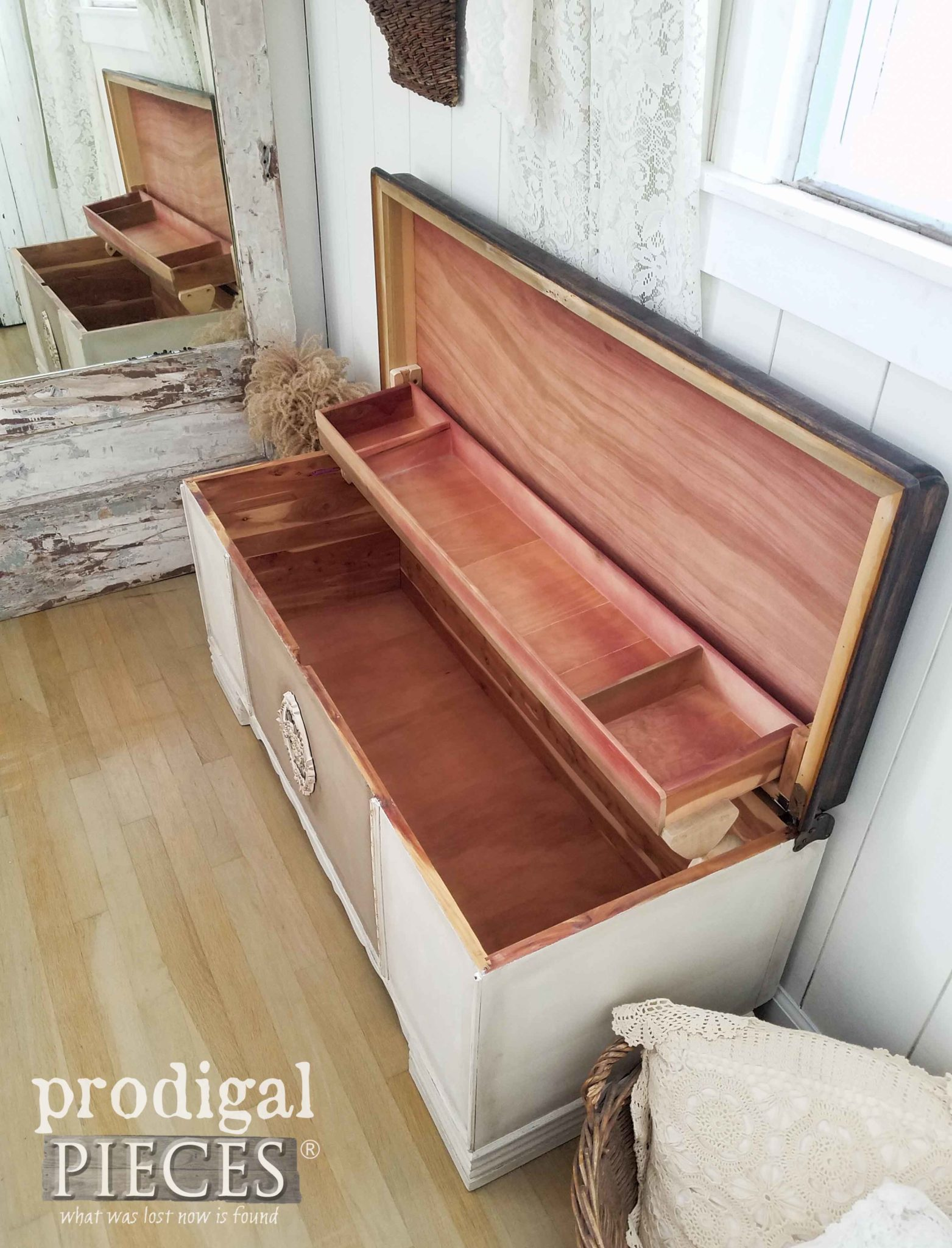 Cedar Lined Hope Chest Made New by Larissa of Prodigal Pieces | prodigalpieces.com