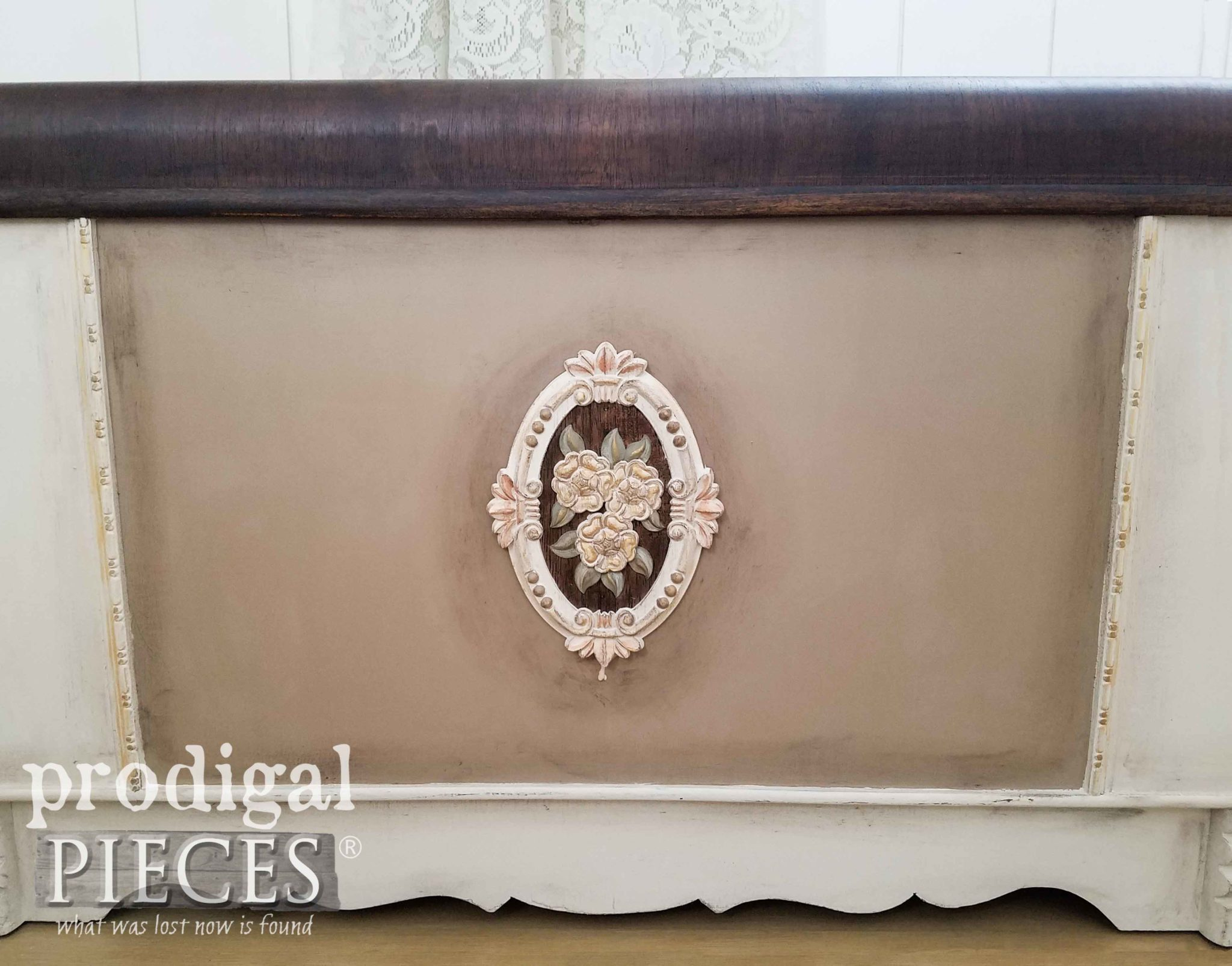 Vintage Waterfall Hope Chest Given New Life with Paint & Stain by Larissa of Prodigal Pieces | prodigalpieces.com