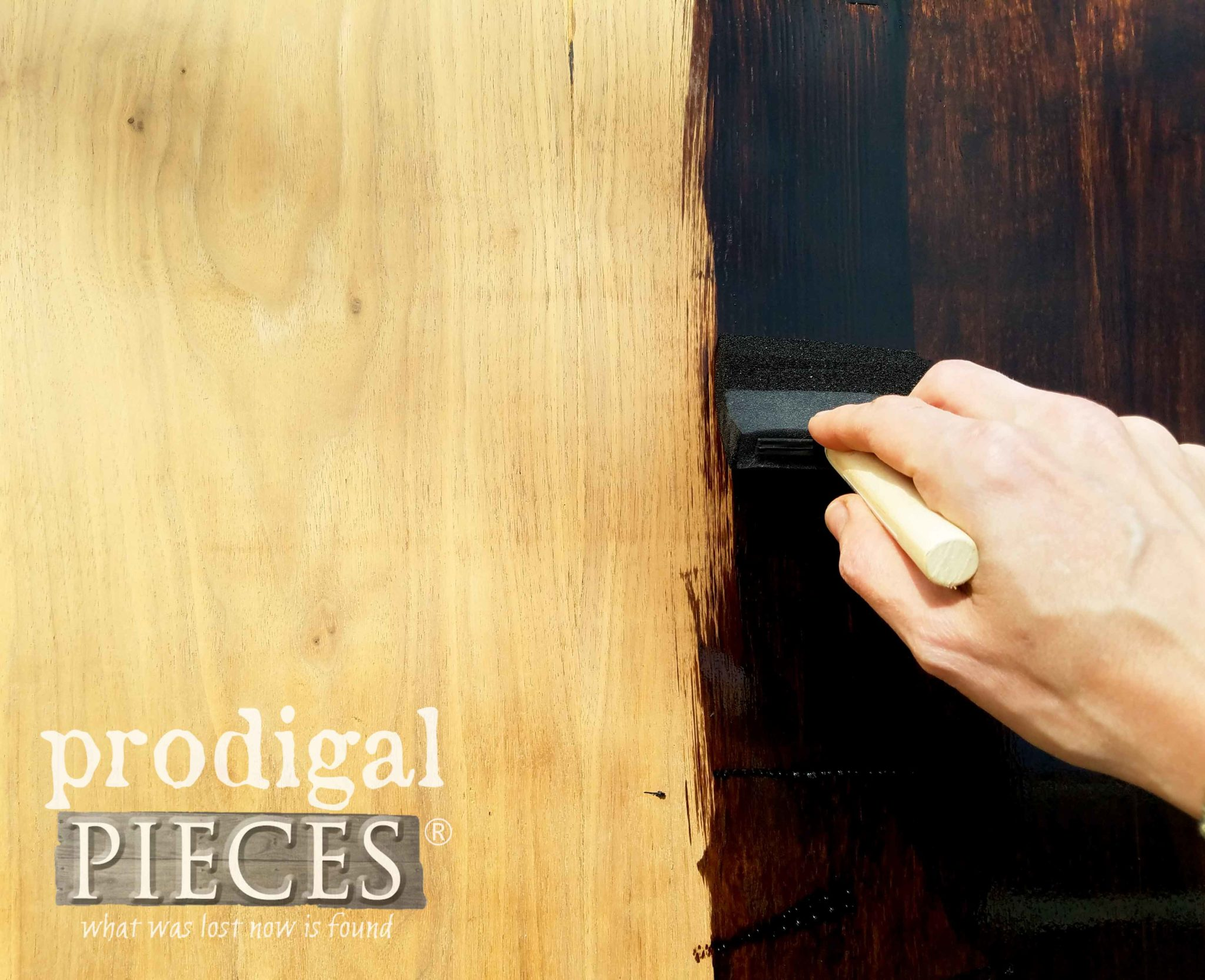 Minwax Espresso Stain for Waterfall Hope Chest Top | prodigalpieces.com