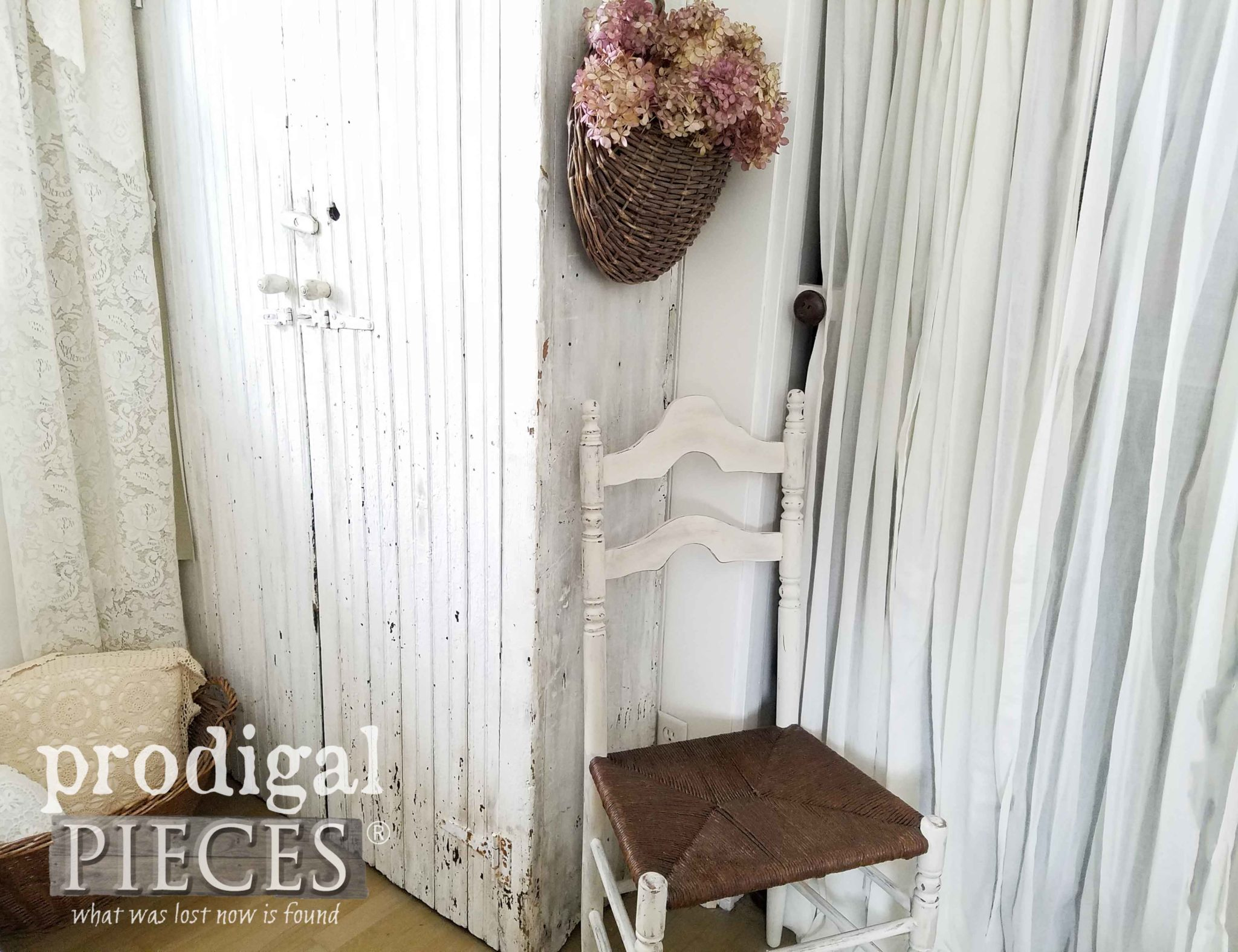 Farmhouse Bedroom Decor done DIY style by Larissa of Prodigal Pieces | prodigalpieces.com