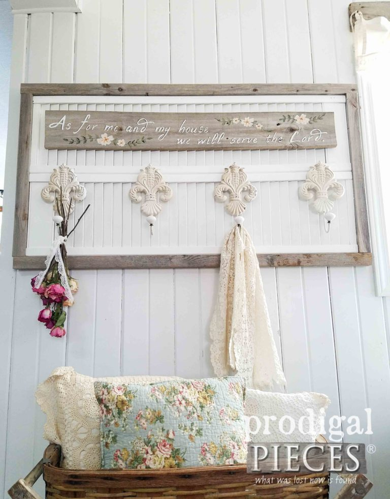 Farmhouse Chic Coat or Towel Rack Made with Reclaimed Wood by Larissa of Prodigal Pieces | prodigalpieces.com
