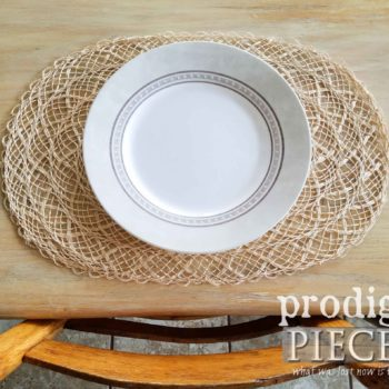 Farmhouse Style Placemat made of Natural Abaca   prodigalpieces.com