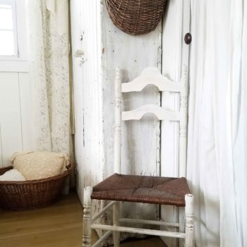 Antique Farmhouse Dining Chair with Rush Seat Given New Life by Larissa of Prodigal Pieces | prodigalpieces.com