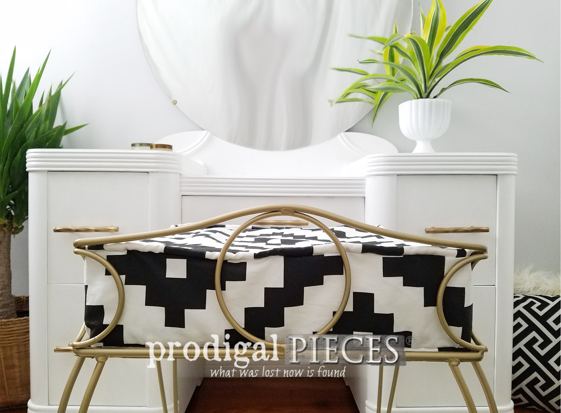 Featured Art Deco Vanity meets Boho Chic Style by Larissa of Prodigal Pieces | prodigalpieces.com