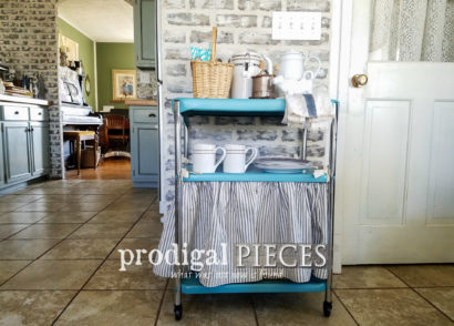 Featured Vintage Cosco Serving Cart Updated for DIY Storage by Larissa of Prodigal Pieces | prodigalpieces.com