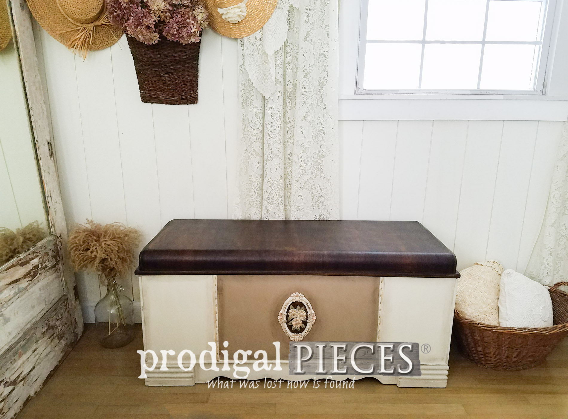 Featured Vintage Waterfall Hope Chest by Larissa of Prodigal Pieces | prodigalpieces.com