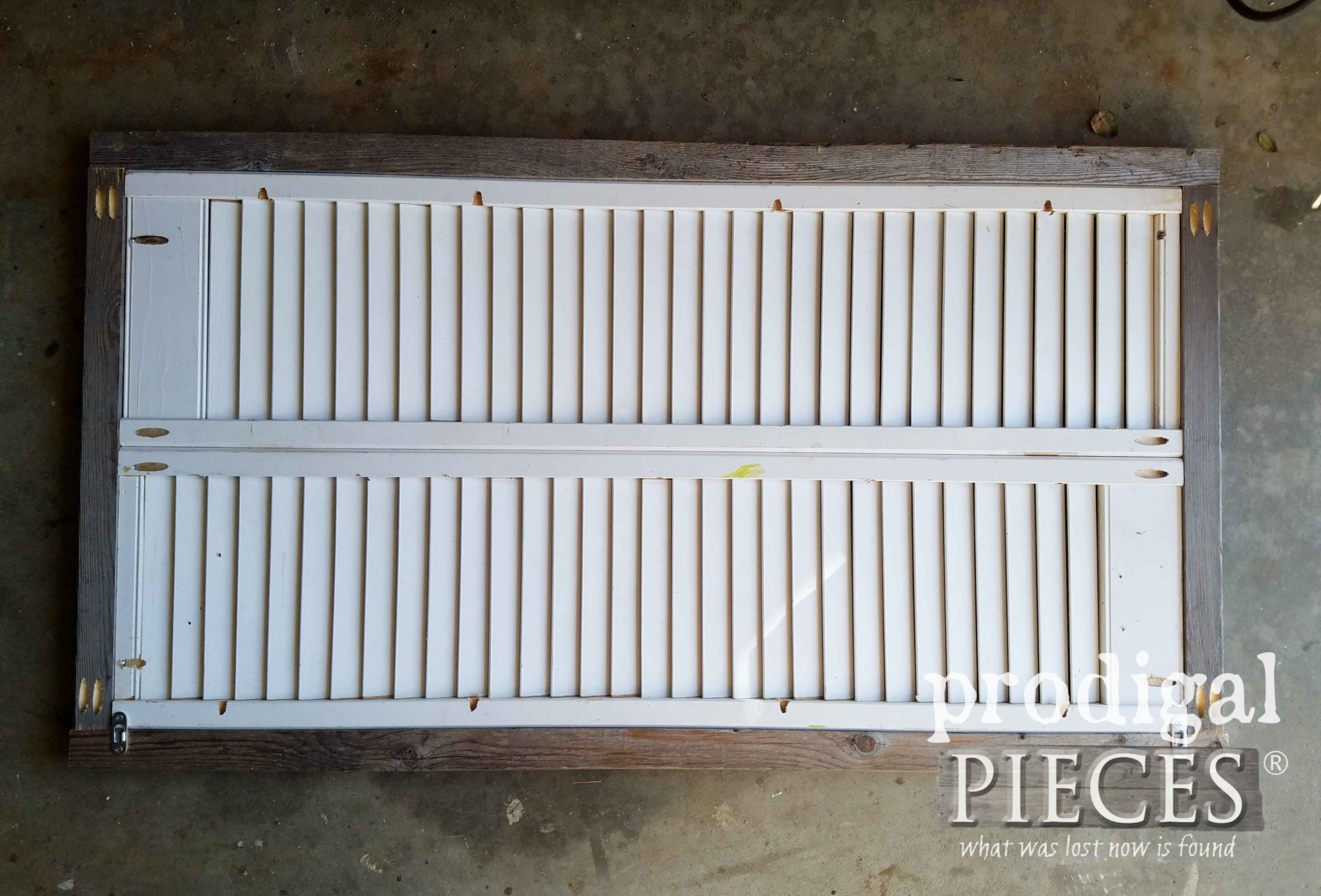 Assembled Louver Door Wall Art | prodigalpieces.com