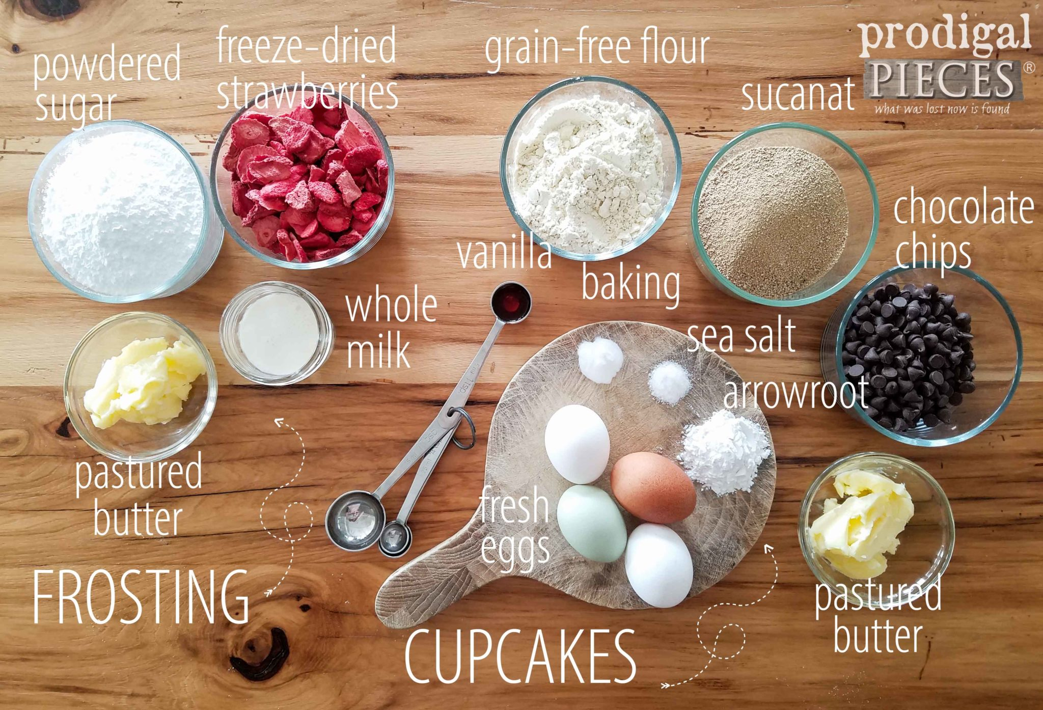 Natural Ingredients for Grain-Free Chocolate Cupcake Dessert by Larissa of Prodigal Pieces | prodigalpieces.com